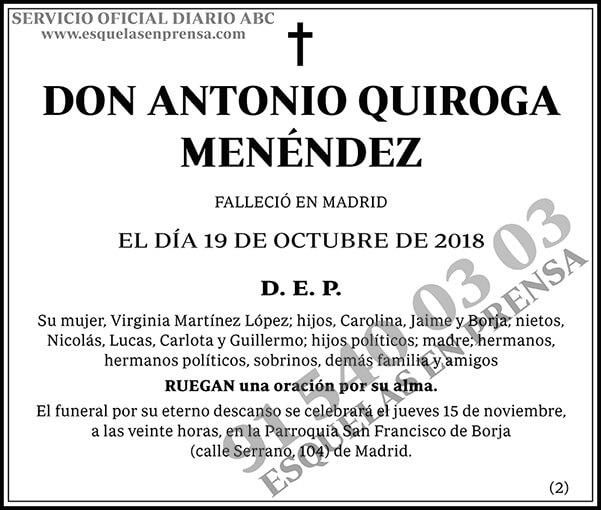 Antonio Quiroga Menéndez